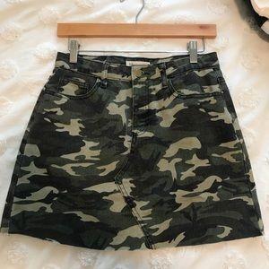 Dresses & Skirts - Denim Camo Skirt